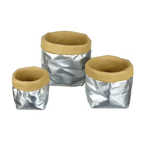 Medium Mock Paper Bag Plant Pot