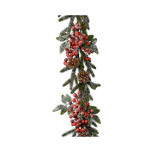 Red Berry and Snow Garland