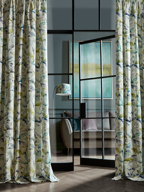 "Voyage Maison Luxury Ready Made Curtains Naura Lemon Design 66""x90"""