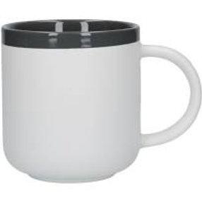 La Cafetiere Barcelona Cool Grey Ceramic 450ml Latte Mug