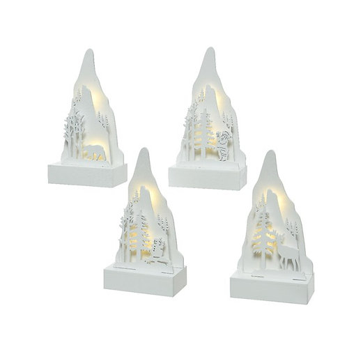 LED Light Up Mountain Scenery - Reindeer