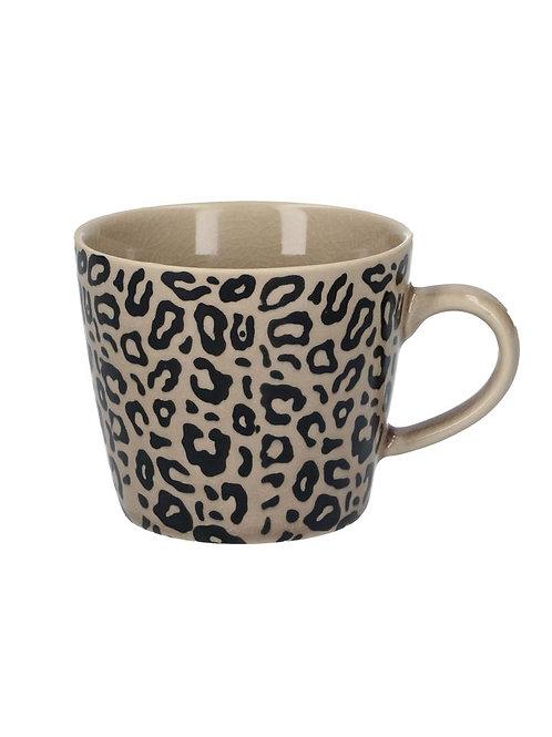 Gisela Graham Taupe Animal Print Ceramic Mug