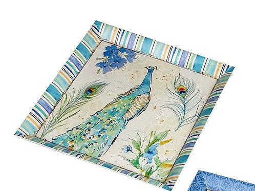 Heaven Sends Peacock Melamine Tray
