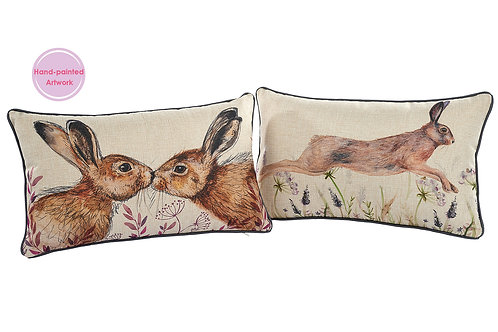 Langs Leaping Hare Oblong Cushion 40x25cm