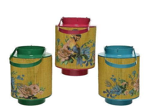 Japanese Style Bird Design Lantern - Blue