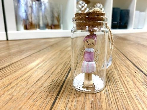 Miniature Christmas Fairy in a Bottle