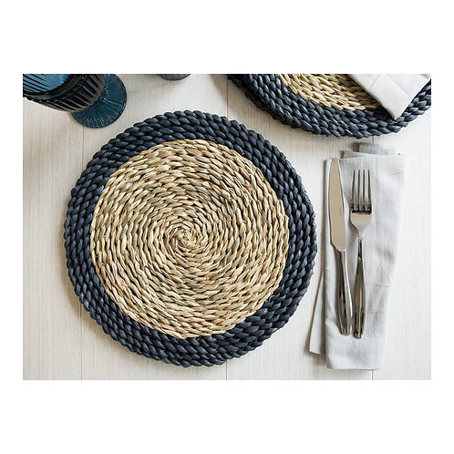 Wovan Grass Pack of 2 Placemats - Blue