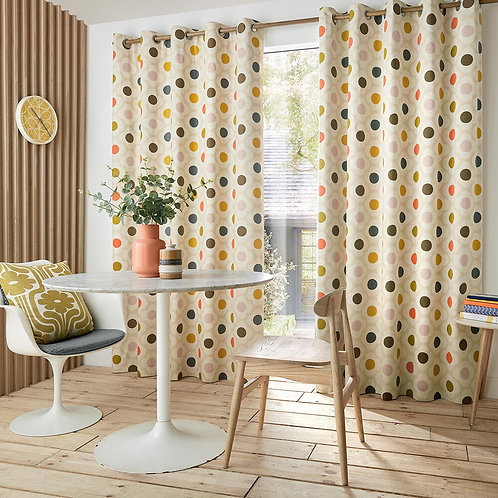 "Orla Kiely Ready Made Luxury Curtains Spot Flower Design 46""x90"""