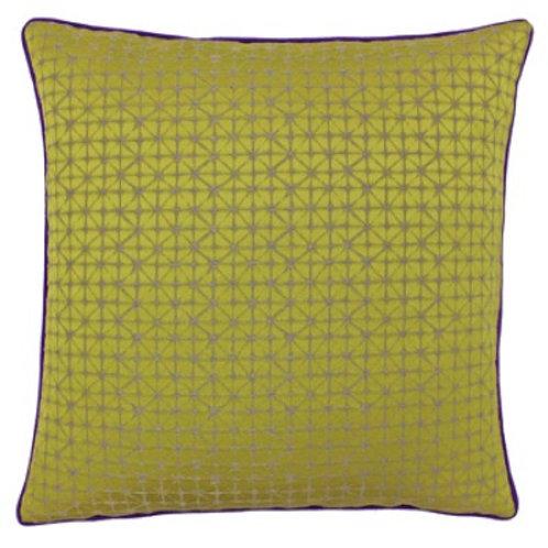 Pimlico Square Gold/Purple Cushion 45cm x 45cm