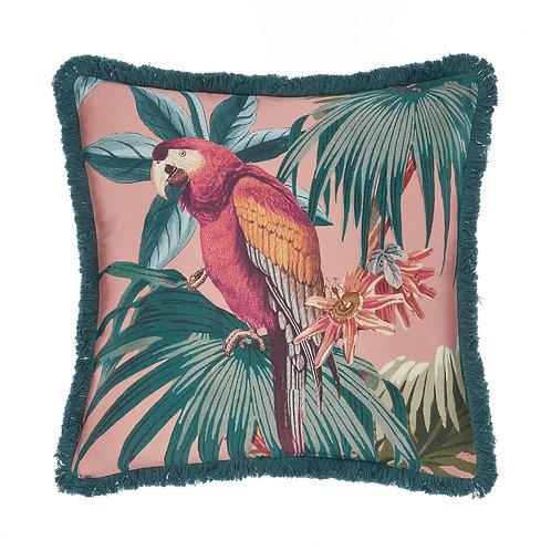 Fernanda Jungle Parrot Print Cushion 48x48cm