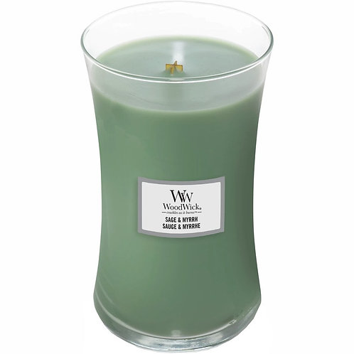 Sage and Myrrh - Large Hour Glass Candle