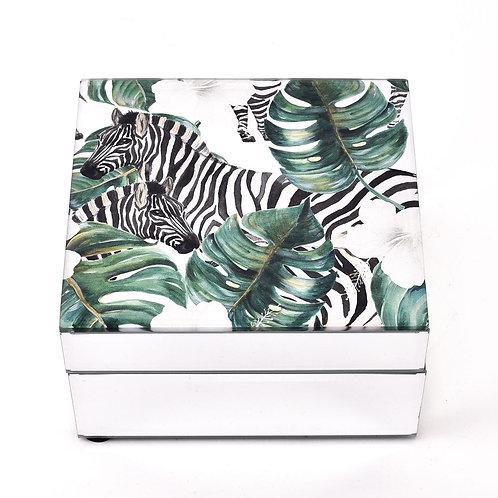 Hestia Zebra Print Jewellery Box