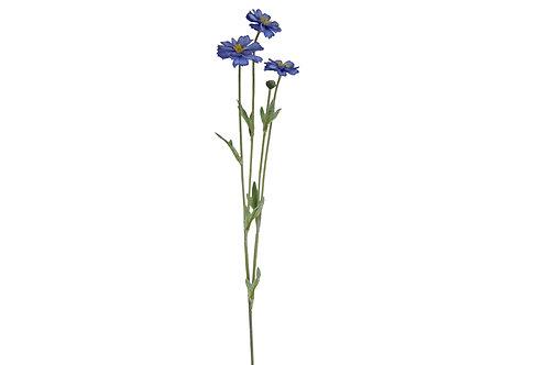 Gisela Graham Mini Blue Cosmos Faux Flower Spray 60cm
