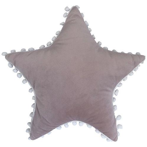 Riva Home Star Pom Pom Cushion - Blush/White