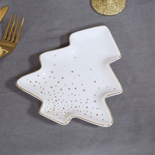 Starry Nights Ceramic Tree Shaped Serving Dish