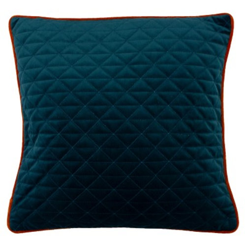 Quartz Teal and Jaffa Orange Cushion by Riva Home 45x45cm