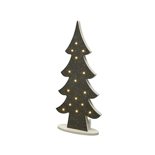 LED Lit Charcoal Christmas Tree