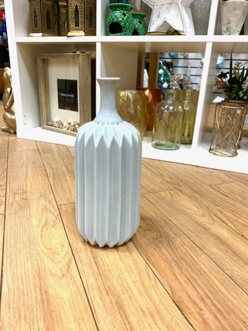 Grey Art Deco Ceramic Vase 28cm
