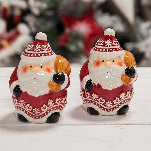 Set of 2 Santa with Sack Salt & Pepper Shakers