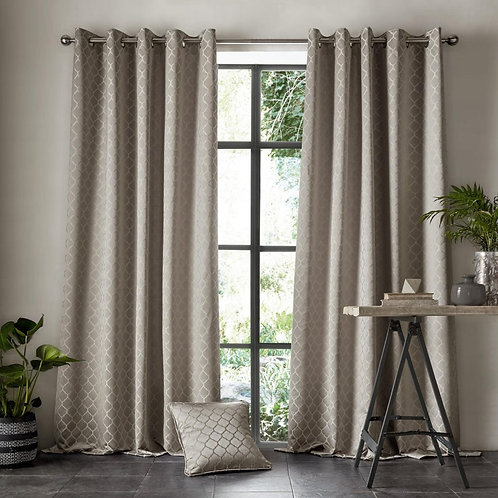 "Ashleigh Wilde Luxury Ready Made Curtains - Aldbury - Pewter 66""x90"""