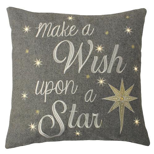 "Riva Home Light Up ""Make a Wish Upon a Star"" Cushion"
