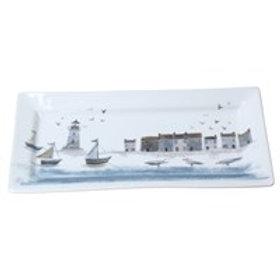 Gisela Graham Coastal Scene Rectangular Plate