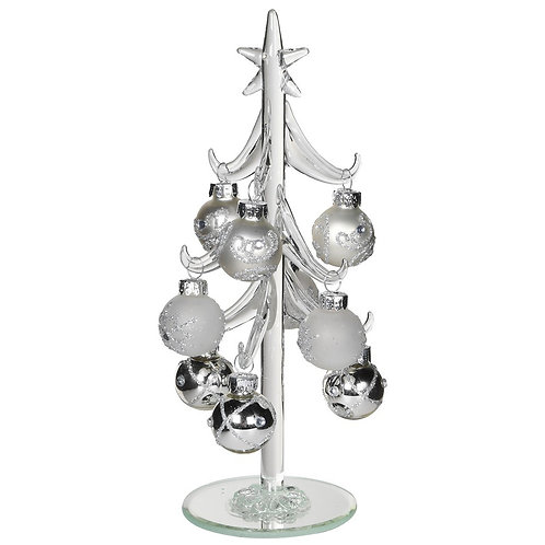 White and Silver Bauble Tree