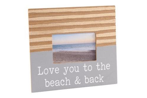 Coastal Photo Frame - Love you to the Beach and Back