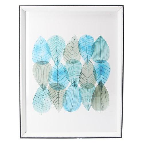 Acrylic Framed Tessellated Leaves Print