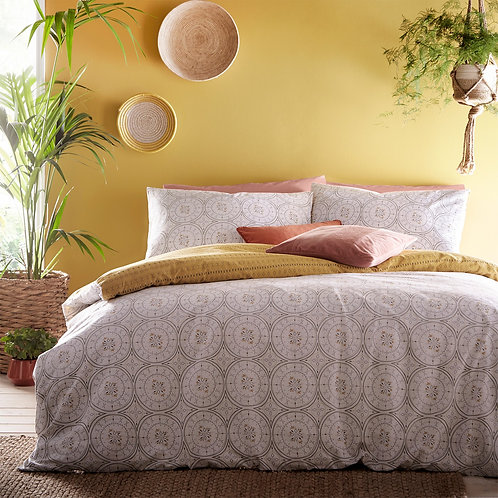 Furn Mandala Grey Duvet Set - Double