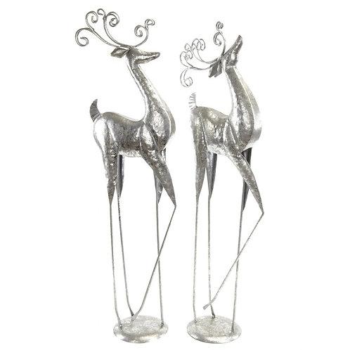 Standing Elegant Metal Deer - Solid Tail