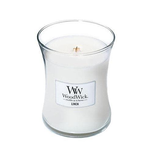 Linen - Medium Hour Glass Candle
