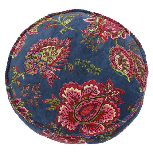 Malisa Round Smoke Blue Cushion by Riva Home 50x12cm