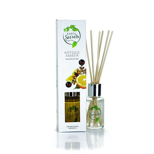 Earth Secrets: Reed Diffuser - Antique Amber 50ml