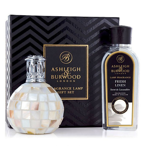 ASHLEIGH & BURWOOD: FRAGRANCE LAMP GIFT SET - ARCTIC TUNDRA & FRESH LINEN