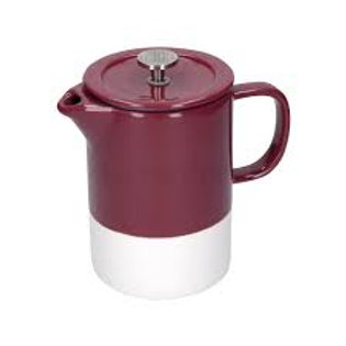 La Cafetiere Barcelona Plum Ceramic 850ml Cafetiere