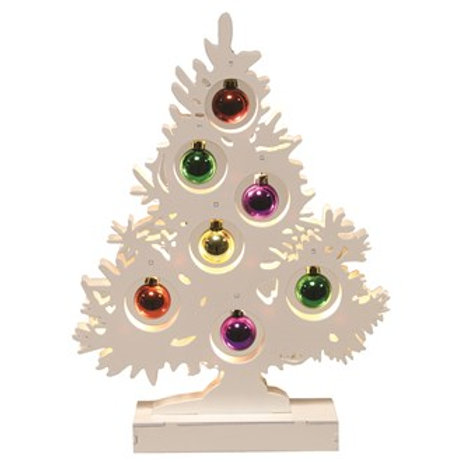 LED Bauble Tree 10 Lights - 34cm