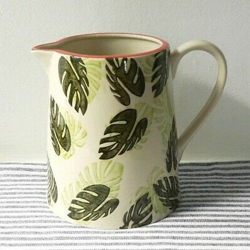 Gisela Graham Ceramic Cheese plant Leaf Jug