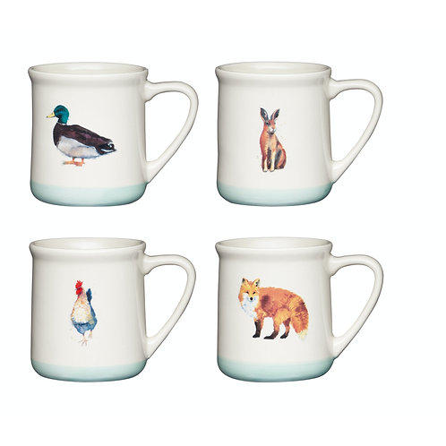 Apple Farm 350ml Mug in Stoneware - Fox
