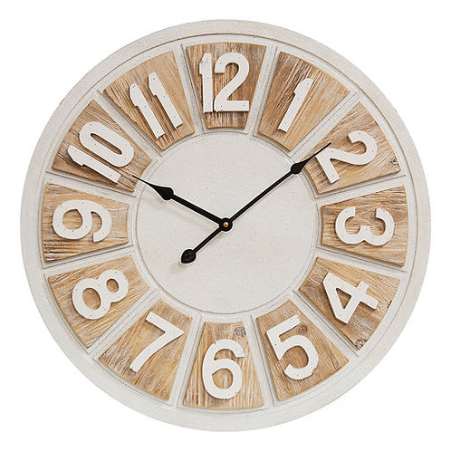 Hestia Two Tone Round Wall Clock 50cm