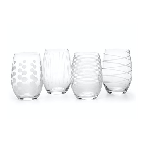 Mikasa Cheers Stemless Wine Glass - Lines