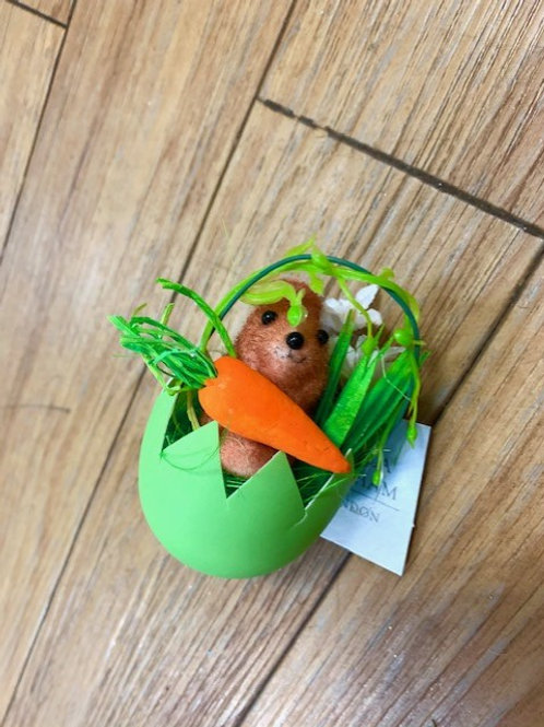 Gisela Graham Easter Bunny in an Egg Hanging Decoration