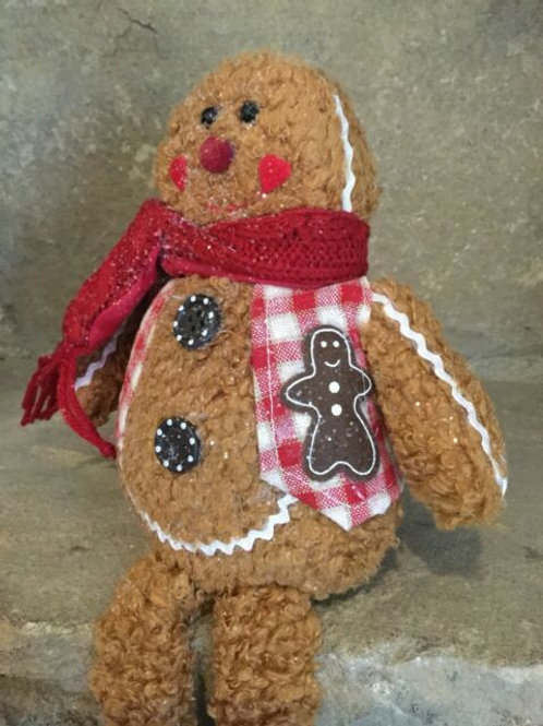 Gisela Graham Plush Gingerbread an Shelf Sitter