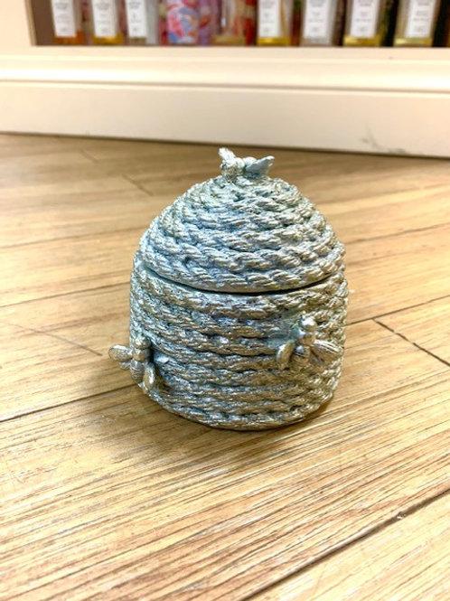 Gisela Graham Silver Bee Hive Trinket Pot