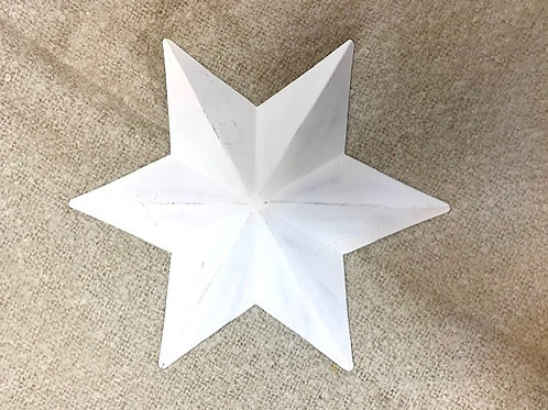 Retreat White Metal Decorative Star 28cm