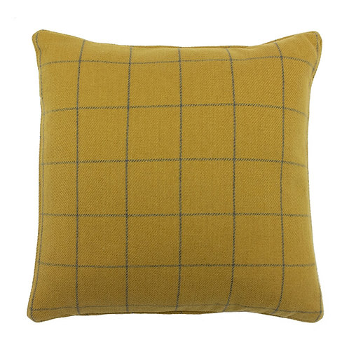 Ellis Ochre Square Cushion 45cm x 45cm by Riva Home