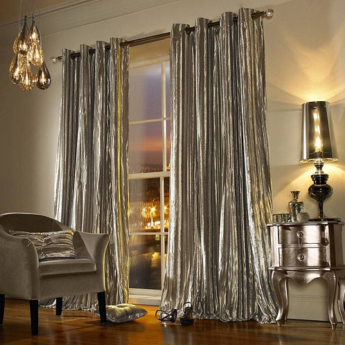 "Kylie Minogue Luxury Ready Made Curtains - Iliana - Praline ""90x90"""