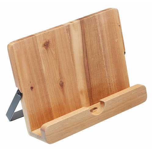 KitchenCraft Natural Elements Acacia Wood Cookbook/Tablet Stand