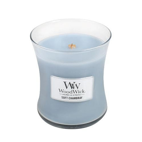 Soft Chambray - Medium Hour Glass Candle