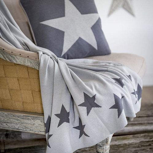 Retreat Home Reversible Grey Star Throw 150x125cm